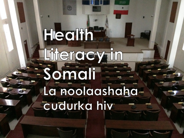 Health literacy in Somali